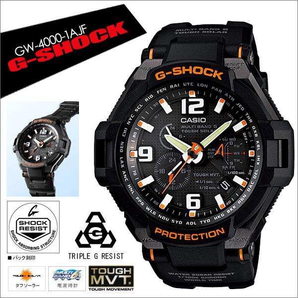 5年保证卡西欧CASIO G-SHOCK g-shock G打击电波电波钟表人GW-4000-1AJF