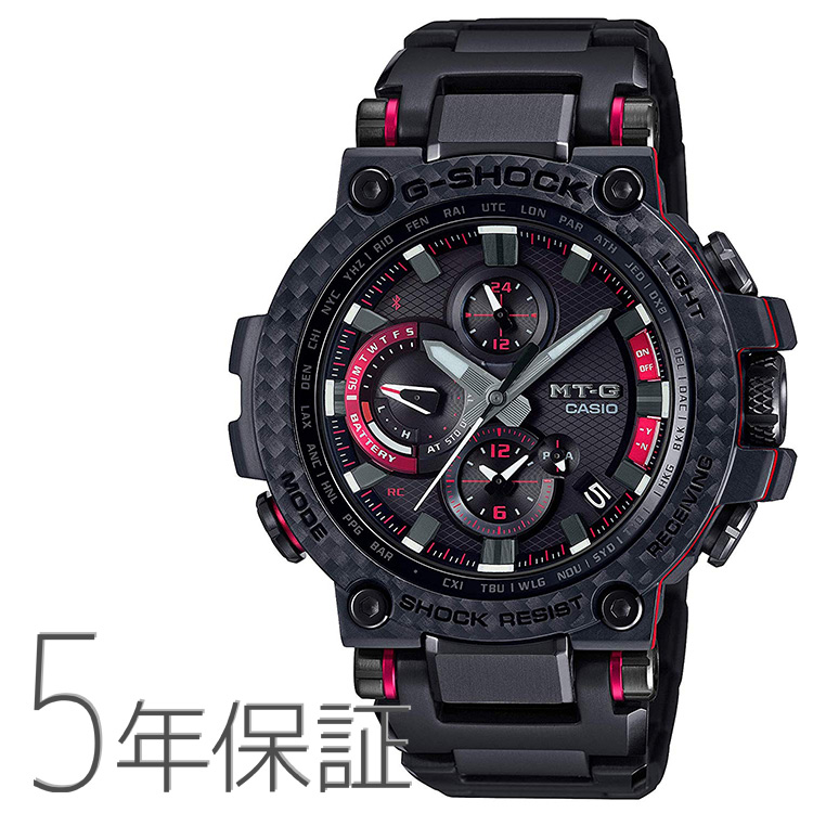 G-SHOCK Gショック MTG-B1000XBD-1AJF カシオ CASIO MT-G スマホリンク 電波ソーラー カーボン素材 ブラック レッド 腕時計 メンズ