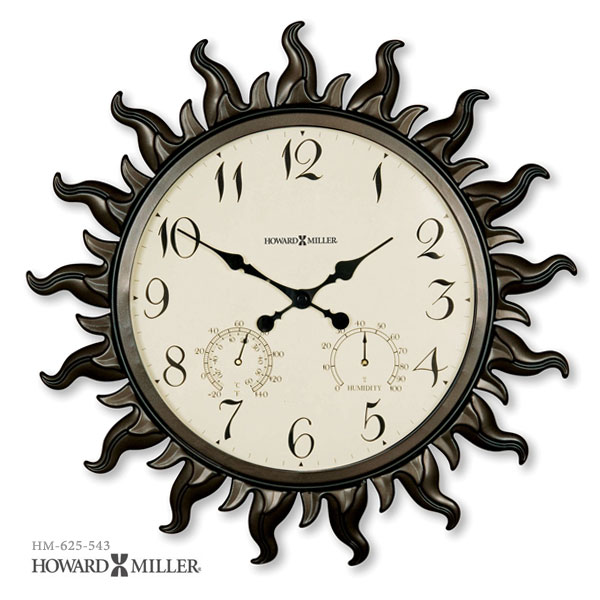 HOWARD MILLER ハワードミラー SUNBURST? 太陽の掛け時計 掛時計 インポートクロック 625-543