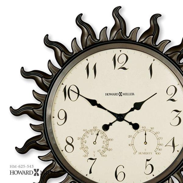Amazing Large Outdoor Clock Part - 12: Wall Clock Import Clock 625-543 Of The HOWARD MILLER Howard Mirror  SUNBURST? Sun
