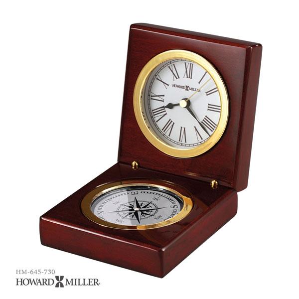 HOWARD MILLER ハワードミラー PURSUIT コンパス内蔵箱入り置き時計 置時計 インポートクロック 645-730