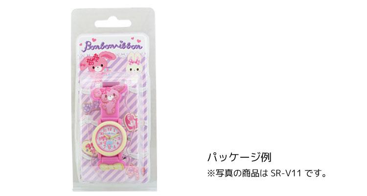 ぼんぼんりぼん 子供用 腕時計 女の子 キッズウォッチ サンリオ キャラクター 3D ピンク SR-V11