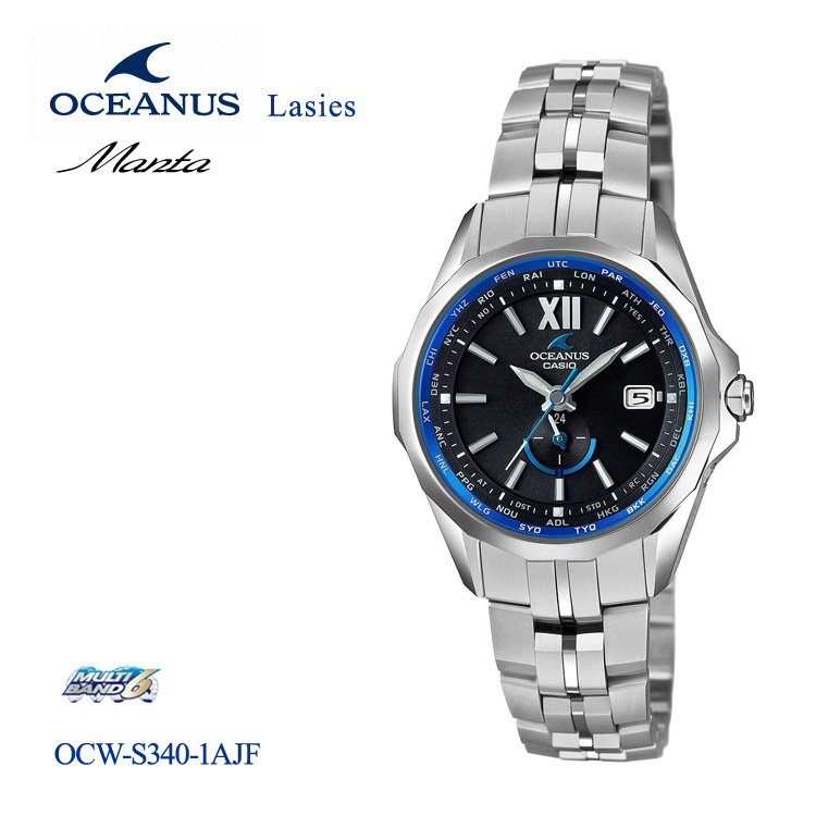 カシオ CASIO オシアナス OCEANUS マンタ OCW-S340-1AJF 山形 女性用 レディース ペア 腕時計