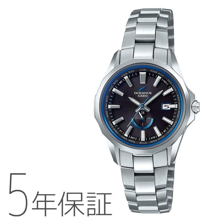 オシアナス マンタ カシオ CASIO OCEANUS Manta 電波 ソーラー タフソーラー 腕時計 レディース OCW-S350-1AJF