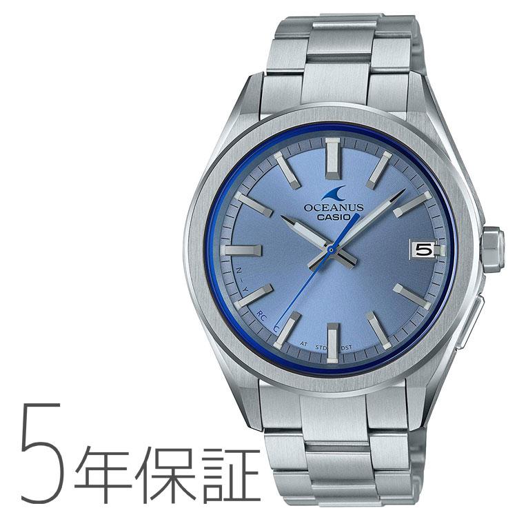 OCEANUS カシオ CASIO タフソーラー 電波時計 モバイルリンク メンズ 腕時計 OCW-T200S-2AJF