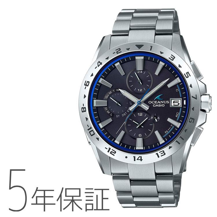 CASIO カシオ OSEANUS オシアナス Bluetooth モバイルリンク タフソーラー 電波腕時計 メンズ OCW-T3000-1AJF