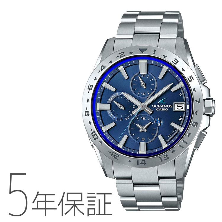 OCEANUS オシアナス 山形 カシオ CASIO タフソーラー 電波腕時計 モバイルリンク 腕時計 メンズ OCW-T3000-2AJF