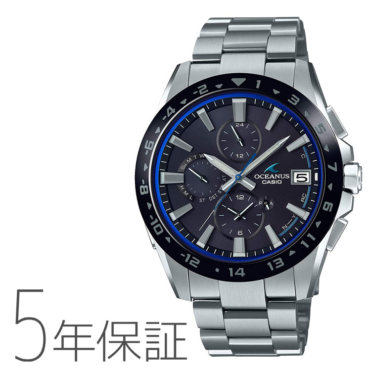 CASIO カシオ OSEANUS オシアナス Bluetooth モバイルリンク タフソーラー 電波腕時計 メンズ OCW-T3000A-1AJF