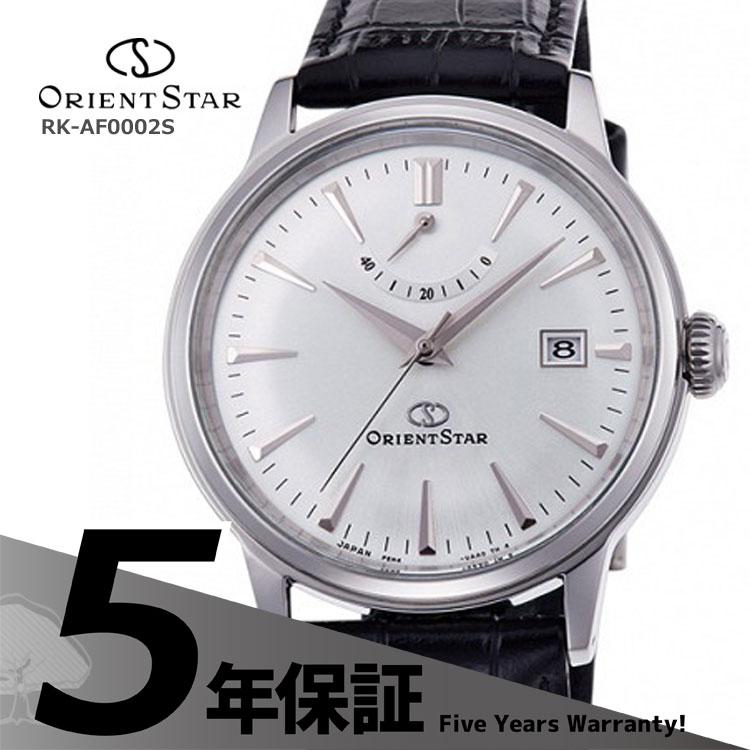 ORIENT STAR オリエントスター クラシック 機械式時計 自動巻き シースルーバック 白 黒革 RK-AF0002S メンズ 腕時計 お取り寄せ