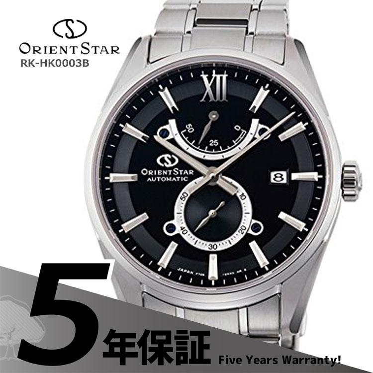 オリエントスター ORIENT STAR コンテンポラリー スリムデイト 機械式時計 小秒 黒 ブラック RK-HK0003B メンズ 腕時計 お取り寄せ