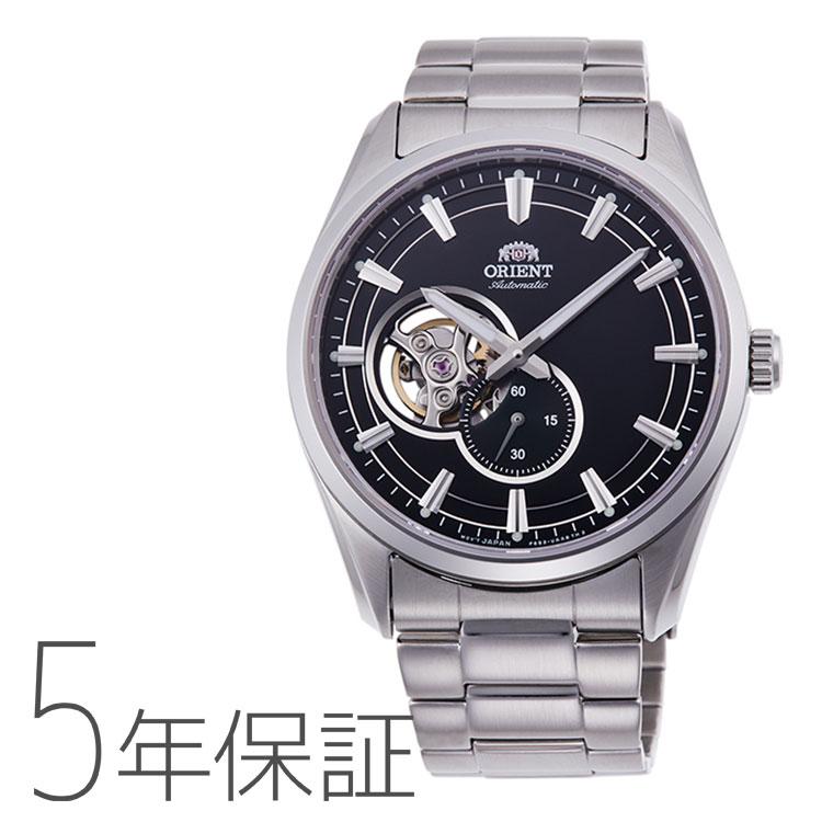 オリエント ORIENT コンテンポラリー セミスケルトン 機械式時計 小秒 黒 ブラック RN-AR0001B メンズ 腕時計 取り寄せ