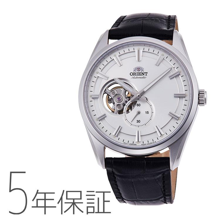 オリエント ORIENT コンテンポラリー セミスケルトン 機械式時計 小秒 黒 ブラック 革バンド RN-AR0003S メンズ 腕時計 取り寄せ
