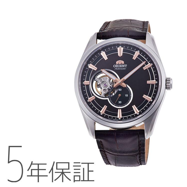 オリエント ORIENT コンテンポラリー セミスケルトン 機械式時計 小秒 黒 ブラック 革バンド RN-AR0004Y メンズ 腕時計 取り寄せ