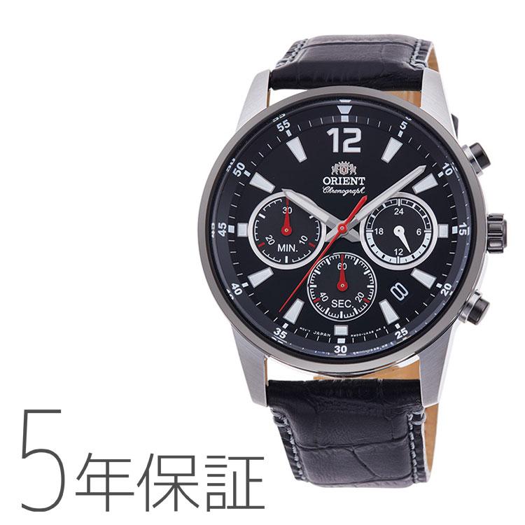 オリエント ORIENT スポーツ 革バンド クロノグラフ 腕時計 メンズ RN-KV0004B 取り寄せ