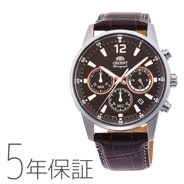 オリエント ORIENT スポーツ 革バンド クロノグラフ 腕時計 メンズ RN-KV0005Y