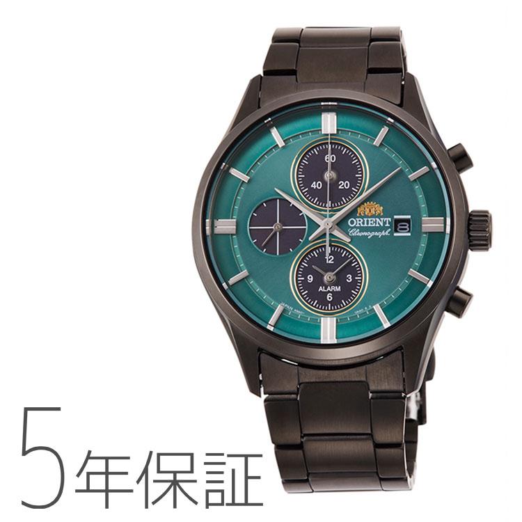 オリエント ORIENT コンテンポラリー クロノグラフ ライトチャージ 光充電 グリーン 緑 ブラック 黒 RN-TY0001E メンズ 腕時計 取り寄せ