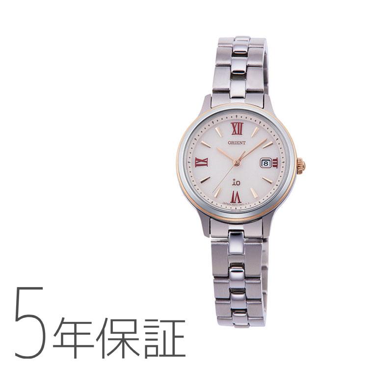 オリエント イオ ORIENT iO ナチュラル&プレーン ライトチャージ 光充電 ピンク 赤 レッド RN-WG0006P レディース 腕時計 取り寄せ