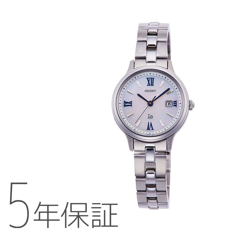 オリエント イオ ORIENT iO ナチュラル&プレーン ライトチャージ 光充電 ブルー 青 RN-WG0007A レディース 腕時計