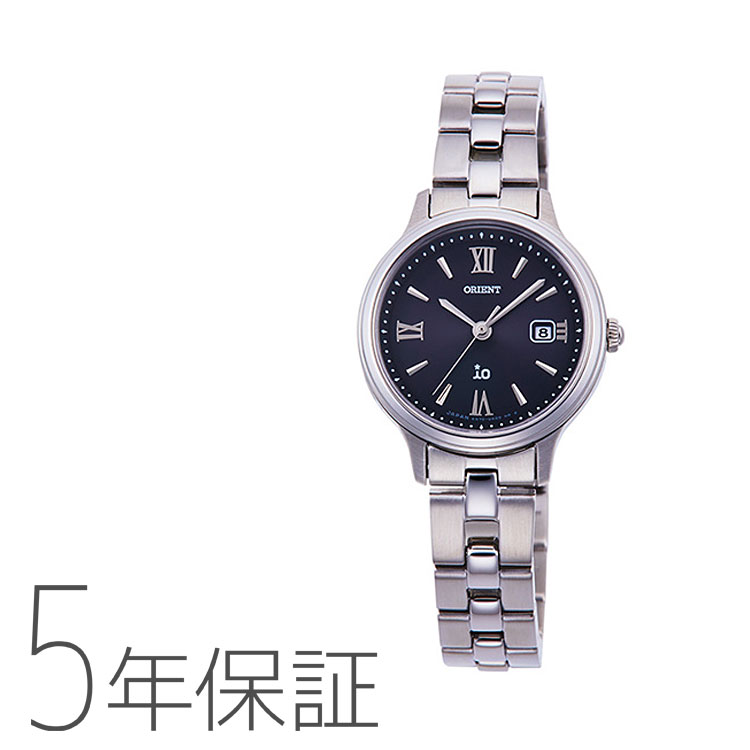 オリエント イオ ORIENT iO ナチュラル&プレーン ライトチャージ 光充電 黒 ブラック シック RN-WG0008B レディース 腕時計