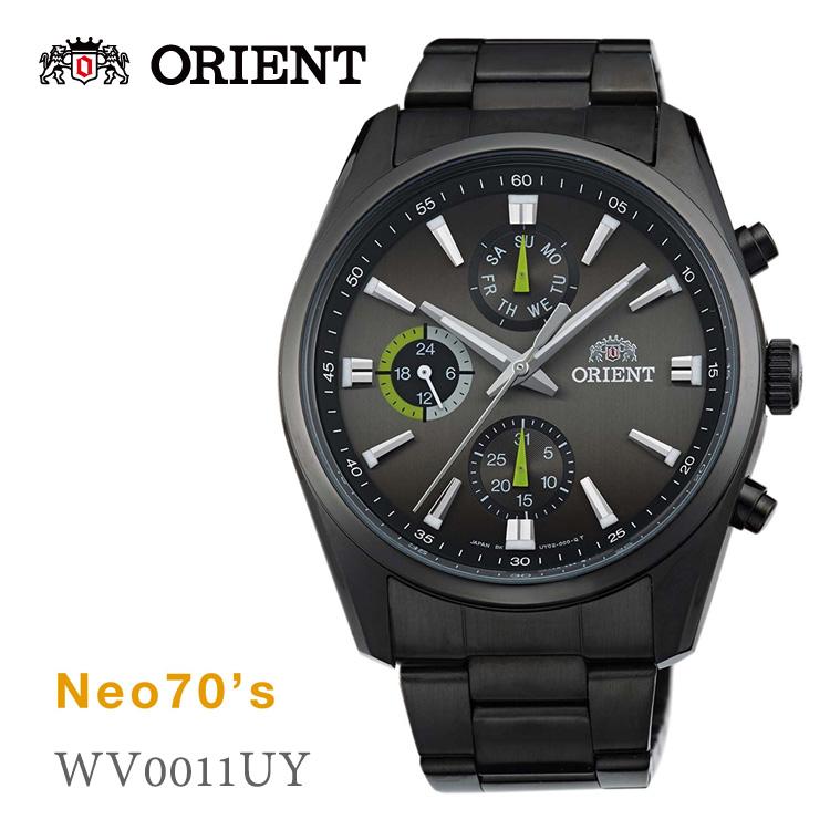 5年保证东方ORIENT新七十Neo70'S AM/PM灰色WV0011UY