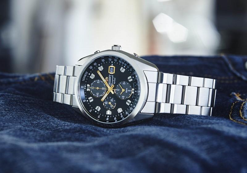 供保证东方ORIENT太阳能计时仪NEO70'S地平线男性使用5年的手表WV0091TY