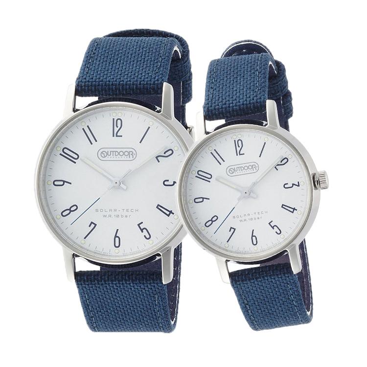 ペアウォッチ ペアセット OUTDOOR ペア 腕時計 ネイビー 紺色 布ベルト クロスバンド アウトドアブランド 青 ブルー アウトドア KP2-311-14/KP2-418-14 CITIZEN シチズン SPAIR0034