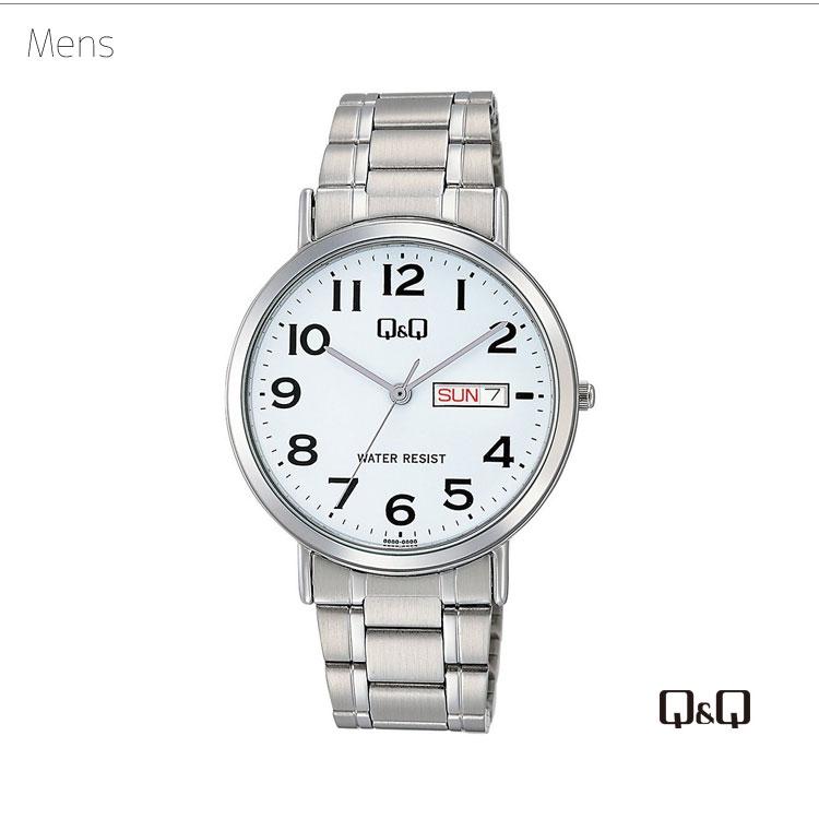 ペアウォッチ ペアセット Q&Q ペア 腕時計 アナログ ステンレスバンド メタルバンド 防水機能 アラビア数字 キューアンドキュー A202-204/A203-204 シチズン 取り寄せ SPAIR0037
