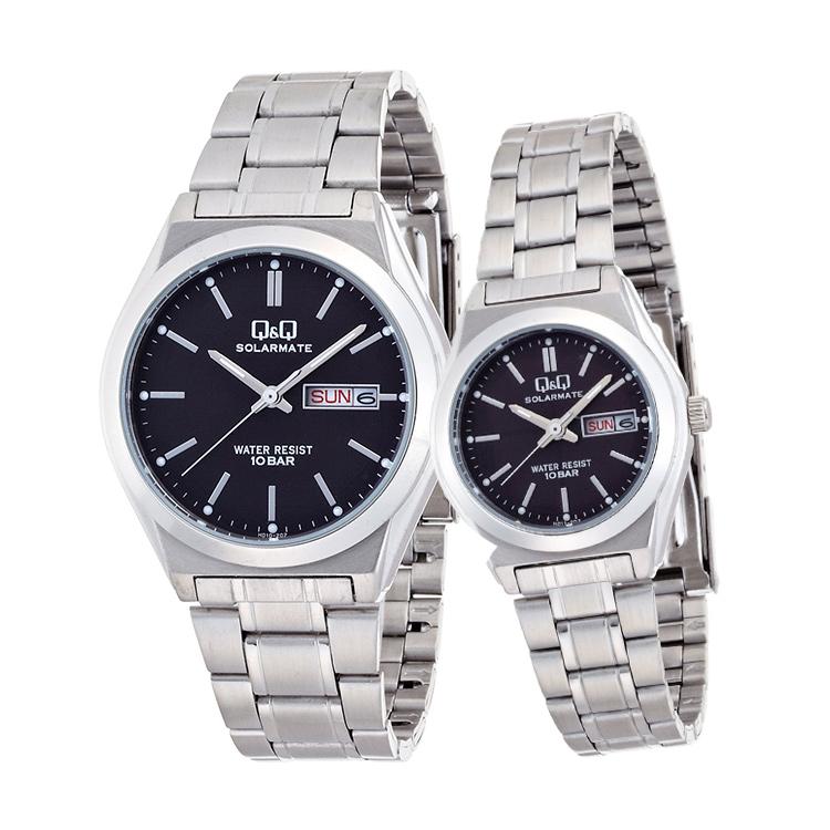 ペアウォッチ ペアセット Q&Q ペア 腕時計 Falcon ファルコン ステンレスバンド バーインデックス キューアンドキュー H010-202/H011-202 シチズン お取り寄せ SPAIR0059