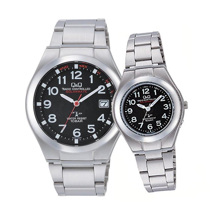 ペアウォッチ ペアセット Q&Q ペア 腕時計 ソーラー電波時計 アナログ ステンレスバンド アラビア数字 キューアンドキュー HG12-205/HJ01-205 シチズン 取り寄せ SPAIR0062