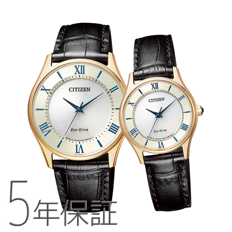 Pair Watch Pair Set Citizen Collection Citizen Collection Pair Watch Leather Band Gold Limited Model Bj6482 12p Em0402 13p Spair0110