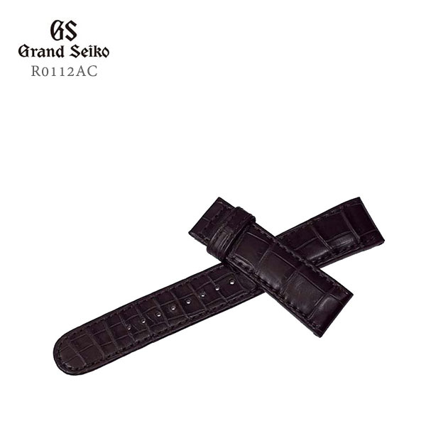 GRAND SEIKO グランドセイコー 紳士用 純正バンド こげ茶 クロコダイル 本ワニ革 カン幅:20mm 替えバンド R0112AC お取り寄せ