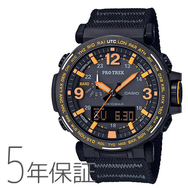プロトレック PRO TREK protrek PRG-600YB-1JF カシオ CASIO CAVE SAFARI SERIES 消臭バンド クロスバンド サファリ 黒 ブラック 腕時計 メンズ