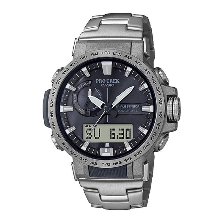 PRO TREK プロトレック PRW-60T-7AJF カシオ CASIO クライマーライン 電波ソーラー チタンバンド メンズ 腕時計