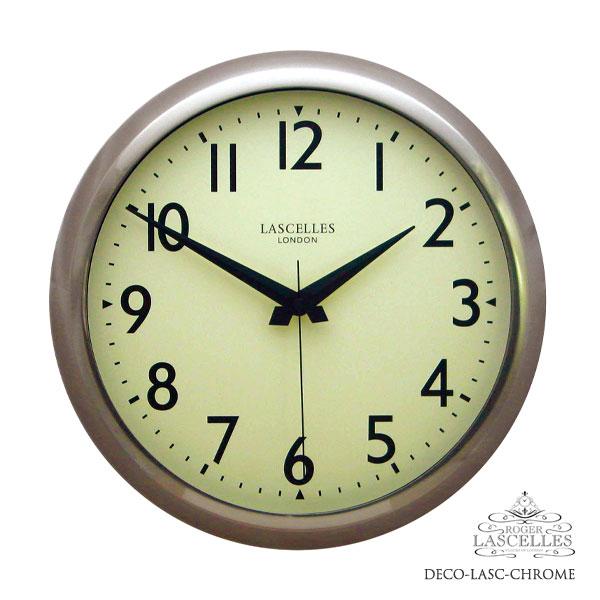 Roger Lascelles ロジャー・ラッセル イギリス発 掛け時計 掛時計 クラシックテイスト RL-DECO-LASC-CHROME