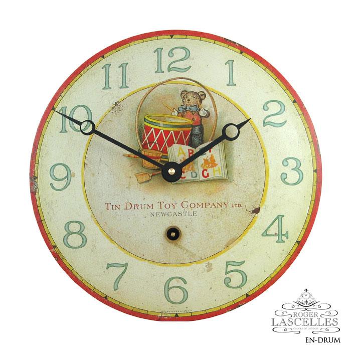 Roger Lascelles ロジャー・ラッセル イギリス発 掛け時計 掛時計 クラシックテイスト チルドレンズクロック RL-EN-DRUM