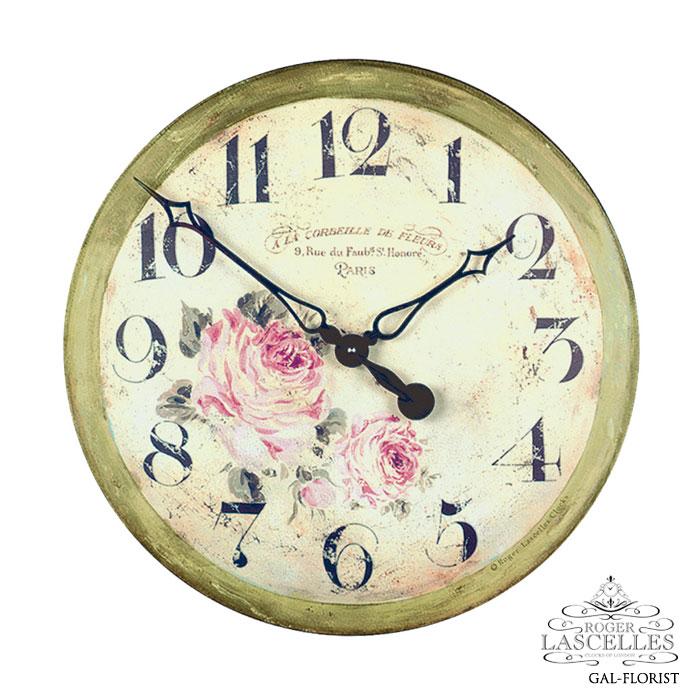 Roger Lascelles ロジャー・ラッセル イギリス発 掛け時計 掛時計 クラシックテイスト フラワークロック RL-GAL-FLORIST バラ柄