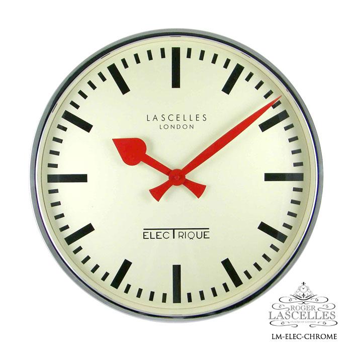 Roger Lascelles ロジャー・ラッセル イギリス発 掛け時計 掛時計 クラシックテイスト クロック RL-LM-ELEC-CHROME