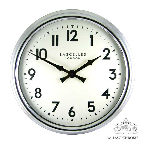 Roger Lascelles ロジャー・ラッセル イギリス発 掛け時計 掛時計 クラシックテイスト LM-LASC-CHROME