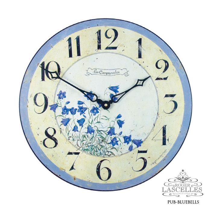 Roger Lascelles ロジャー・ラッセル イギリス発 掛け時計 掛時計 クラシックテイスト フラワークロック RL-PUB- BLUEBELLS ブルーベル柄