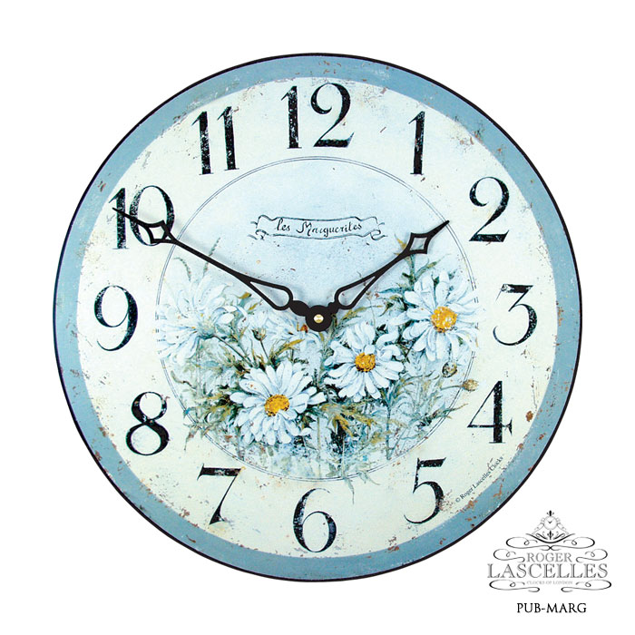 Roger Lascelles ロジャー・ラッセル イギリス発 掛け時計 掛時計 クラシックテイスト フラワークロック RL-PUB- MARG マーガレット柄