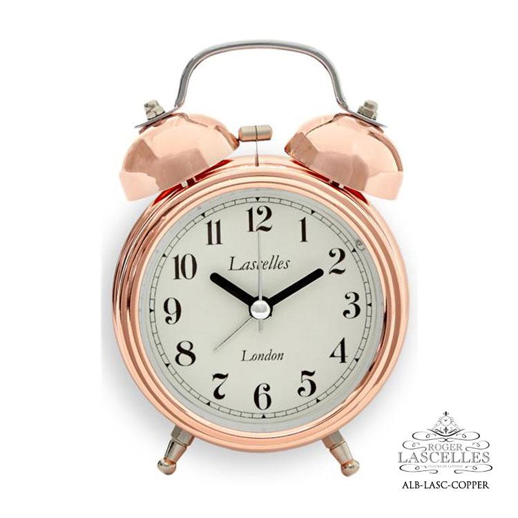 Roger Lascelles ロジャー・ラッセル イギリス製 目覚まし時計 銅製 ベル ピンクゴールド 置時計 海外製 インポート ロジャーラッセル ALB-LASC-COPPER