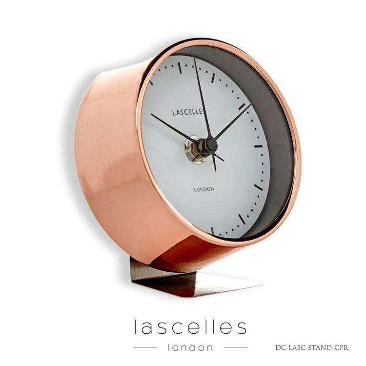 Roger Lascelles ロジャー・ラッセル イギリス製 目覚まし時計 銅製 ピンクゴールド 置時計 モダン 海外製 インポート ロジャーラッセル DC-LASC-STAND-CPR