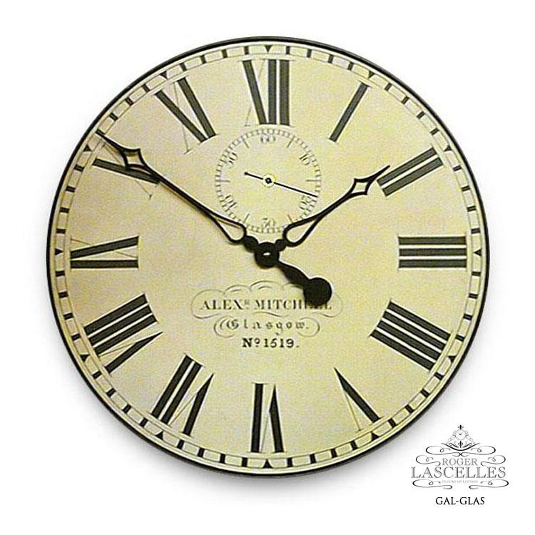 Roger Lascelles ロジャー・ラッセル イギリス製 スコットランド鉄道時計 掛け時計 大型 ヴィンテージ風 海外製 インポート ロジャーラッセル GAL-GLAS