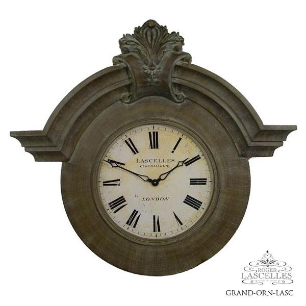 Roger Lascelles ロジャー・ラッセル イギリス製 掛け時計 フレンチ シャトークロック クラシックテイスト 大型 海外製 インポート ロジャーラッセル RL-GRAND-ORN-LASC