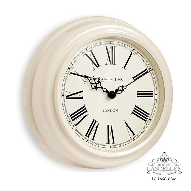 Roger Lascelles ロジャー・ラッセル イギリス製 デザイナーズ 掛け時計 クリーム色 レトロ 海外製 インポート ロジャーラッセル LC-LASC-CRM