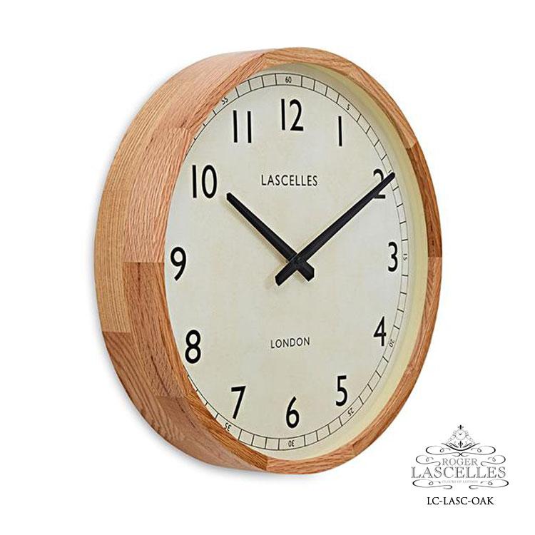 Roger Lascelles ロジャー・ラッセル イギリス製 デザイナーズ 掛け時計 オーク シンプル ナラ 海外製 インポート ロジャーラッセル LC-LASC-OAK
