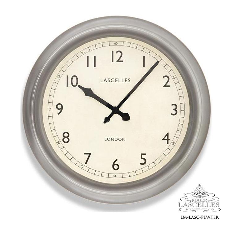 Roger Lascelles ロジャー・ラッセル イギリス製 デザイナーズ 掛け時計 ピューター レトロ 海外製 インポート ロジャーラッセル LM-LASC-PEWTER