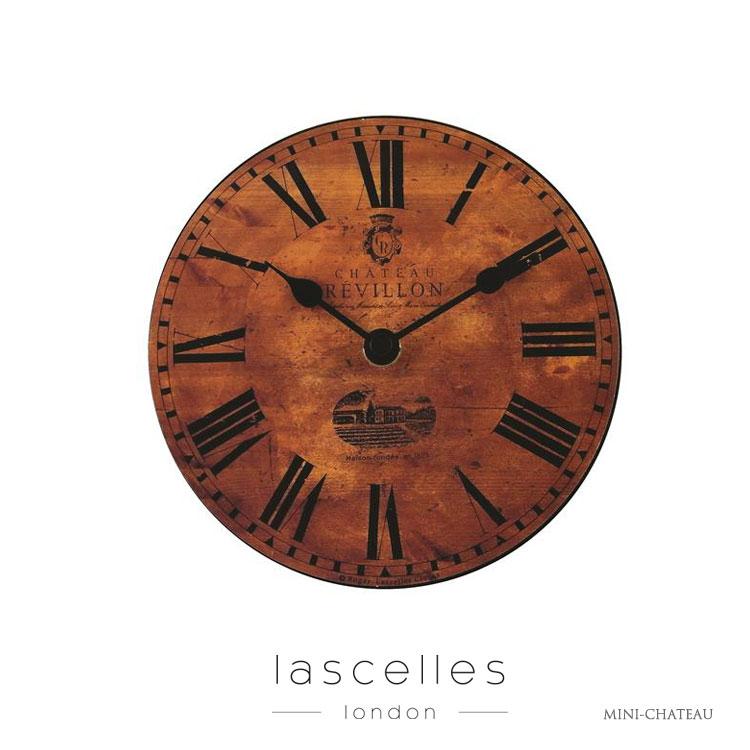 Roger Lascelles ロジャー・ラッセル イギリス製 ヴィンテージ風 ワイン樽 木目調 置時計 レトロ 海外製 インポート ロジャーラッセル MINI-CHATEAU