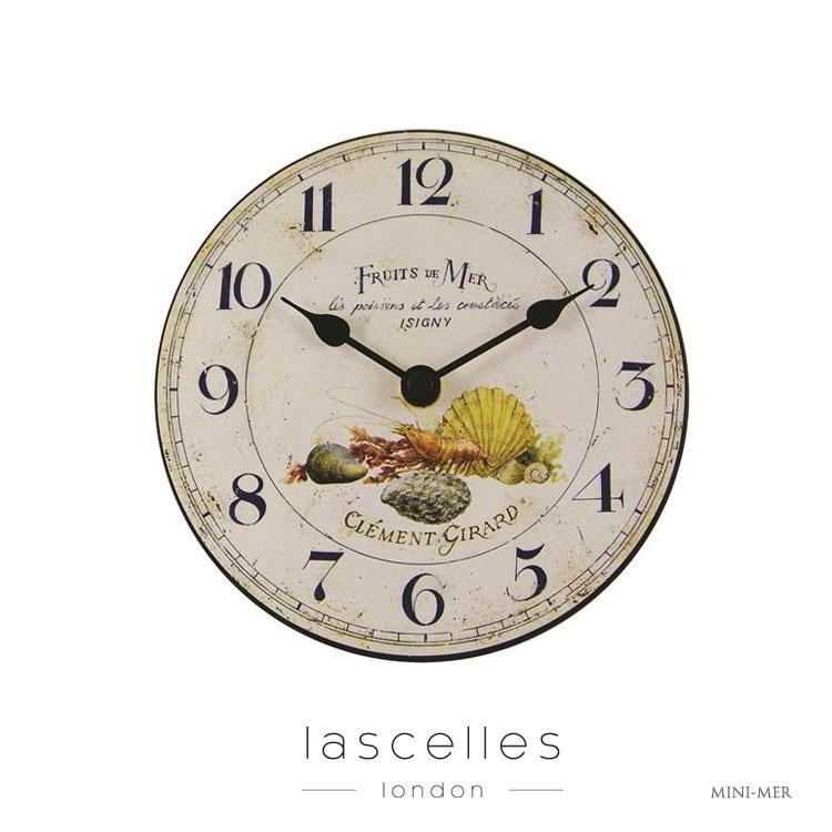 Roger Lascelles ロジャー・ラッセル イギリス製 ヴィンテージ風 シーフード 料理 置時計 ビストロ バール 海外製 インポート ロジャーラッセル MINI-MER