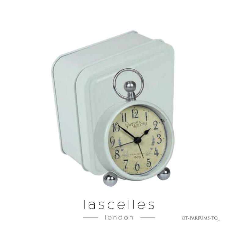 Roger Lascelles ロジャー・ラッセル イギリス製 クラシック ラベンダー模様 箱入り 置時計 海外製 インポート ロジャーラッセル OT-PARFUMS-TQ